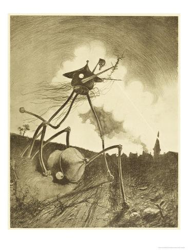 The War of the Worlds, a Martian Fighting-Machine in Action Giclee Print
