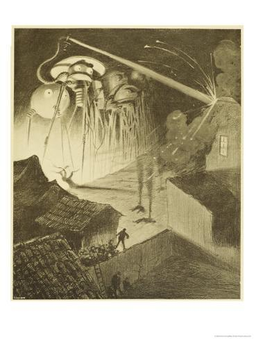 The War of the Worlds, The Heat-Ray in the Chobham Road Giclee Print