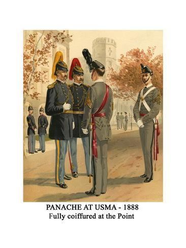 Panache at Usma - 1888 - Fully Coiffured at the Point Stampa giclée premium