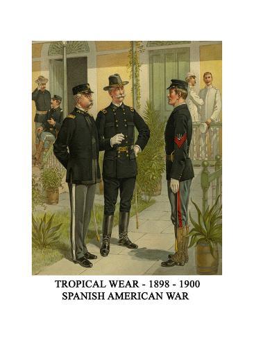 Tropical Wear - 1898 - 1900 - Spanish American War Stampa artistica
