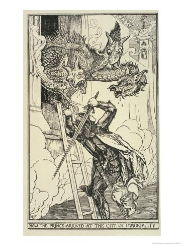 How the Prince Arrived at the City of Immortality Giclee Print