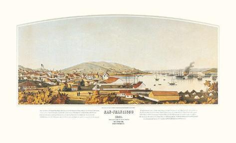San Francisco, 1849 Art Print