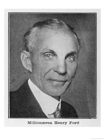 Henry Ford, American Automobile Manufacturer Giclee Print
