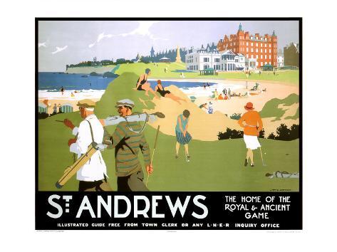 LNER, St. Andrews, c.1920 Giclee Print