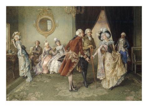 Her Debut, 1903 (18th century scene) Giclee Print