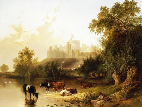 A View of Windsor Castle from the Thames Giclee Print