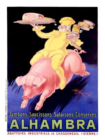 Alhambra Pork Bacon Sausage Giclee Print