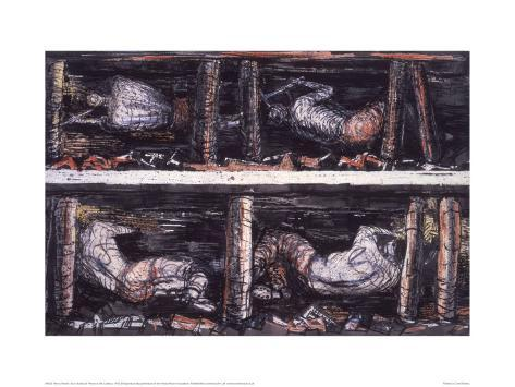 Four Studies of Miners at the Coalface, 1942 Giclee Print