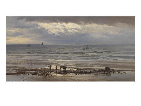 Kelp Gatherers - a Grey Morning, 1874 Giclee Print