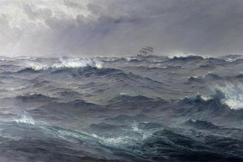 Rough Weather in the Mediterranean Giclee Print
