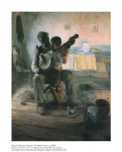 The Banjo Lesson Art Print