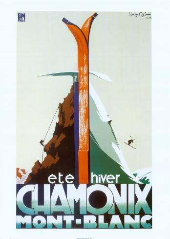 Verão, inverno, Chamonix, Mont-Blanc Impressão artística