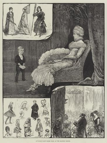 Juvenile Fancy-Dress Ball at Mansion House Stampa giclée