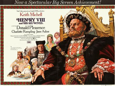 Henry Viii and His Six Wives Art Print