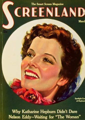 Hepburn, Katharine - Screenland Magazine Cover 1930's Masterprint