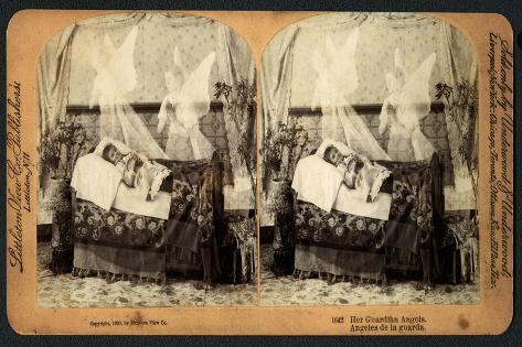 Her Guardian Angels, 1893 Lámina giclée