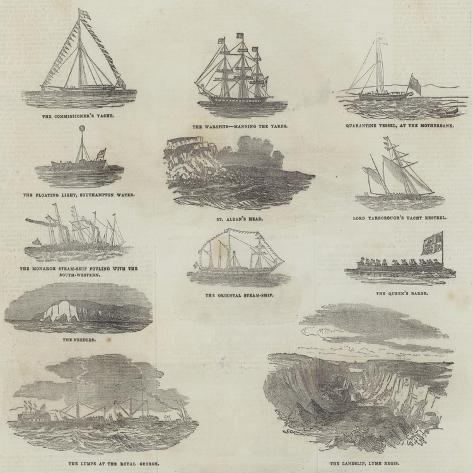 Her Majesty's Marine Excursion Stampa giclée