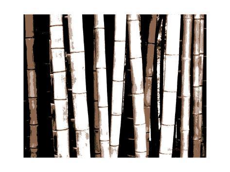 Enchanted Bamboo Brown Premium Giclee Print