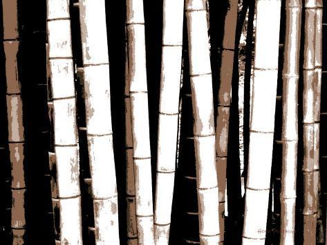 Enchanted Bamboo Brown Art Print
