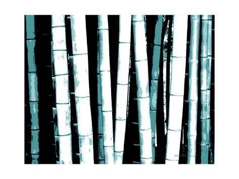 Enchanted Bamboo Teal Art Print