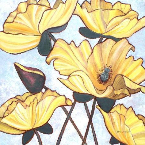 Golden Blooms Photographic Print