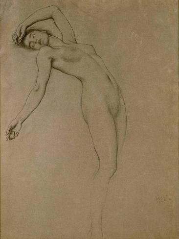 Study for 'Clyties of the Mist' (Chalk on Paper) Lámina giclée