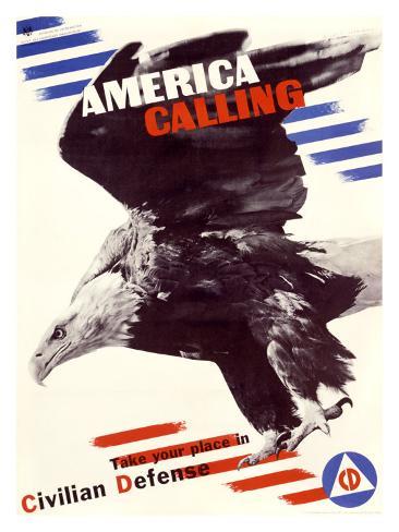 America Calling Giclee Print