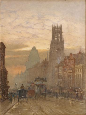 Fleet Street by Temple Bar Giclee Print