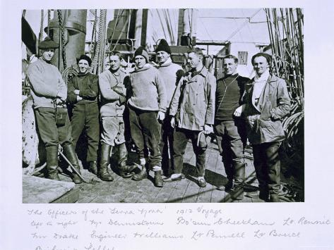 The Officers of the Terra Nova Expedition Photographic Print