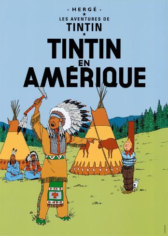 Tintin en América (1932) Lámina