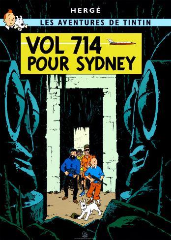 Vol 714 pour Sydney, c.1968 Posters by Hergé (Georges Rémi ...