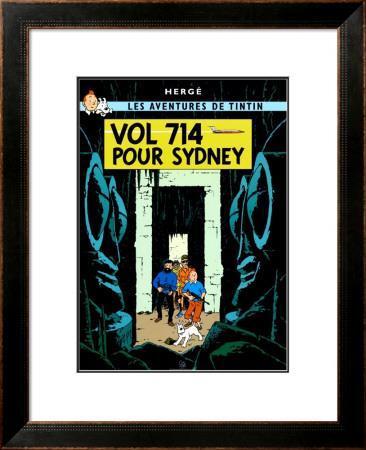 'Vol 714 pour Sydney, c.1968' Prints - Hergé (Georges Rémi ...