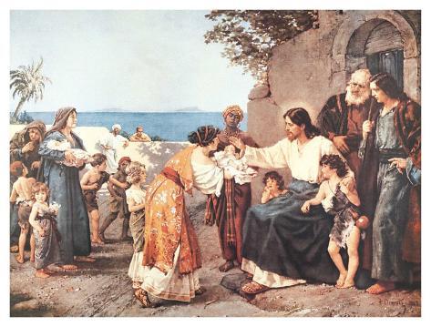 オールポスターズの Hermann・クレメンツ「子どもたちに祝福を授けるキリスト」高画質プリント