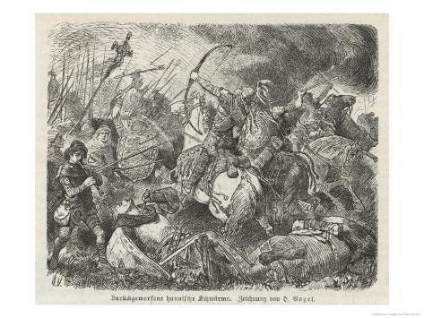 The Huns Under Attila are Defeated by the Visigoths and Romans Commanded by Aetius at Chalons Giclee Print