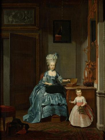 Susanna Van Collen Nee Mogge and Her Daughter Art Print