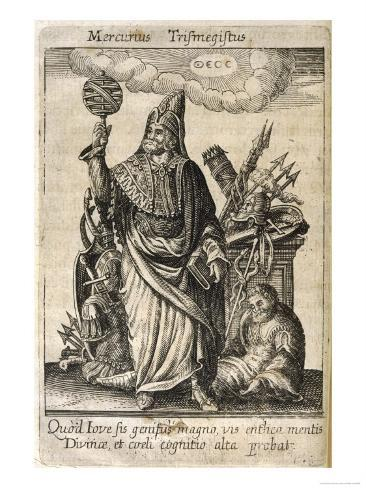 Hermes Trismegistus, Perceived by Neoplatonists as the Presiding Deity of Alchemy Giclee Print
