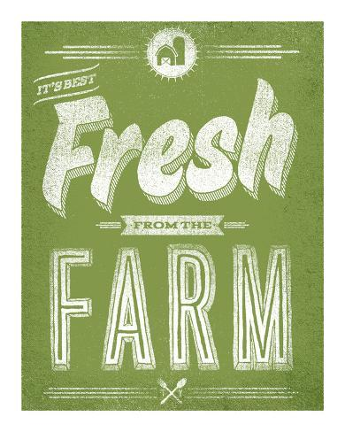 Fresh from the Farm Serigraph