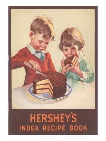 Hershey's Index Recipe Book, Children Eating Cake Taidevedos