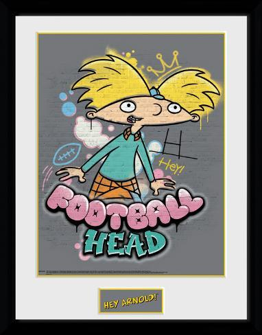 Hey Arnold - Football Head Collector-print