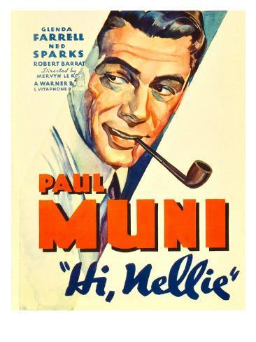 Hi, Nellie, Paul Muni, 1934 Stretched Canvas Print