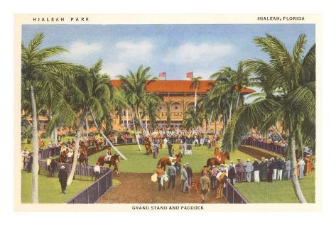Hialeah Race Track, Florida Art Print
