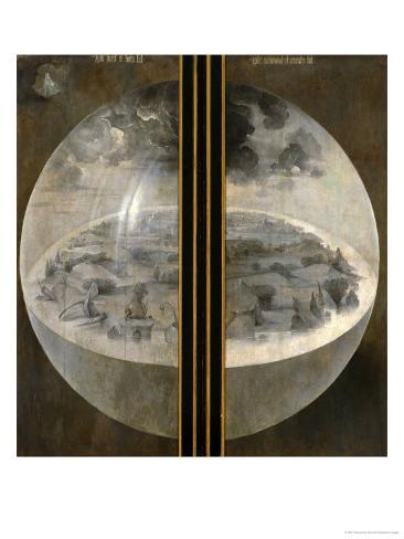 Garden of Delights, Closed Wings: The Creation of the World, Triptich with Shutters Giclee Print