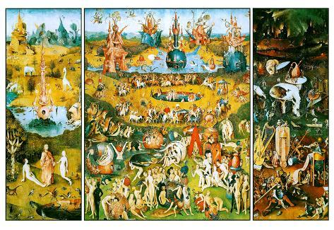 Hieronymus Bosch Garden of Earthly Delights Art Poster Print