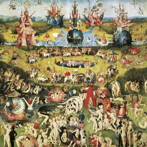 Il Giardino Delle Delizie Stampe Di Hieronymus Bosch Su