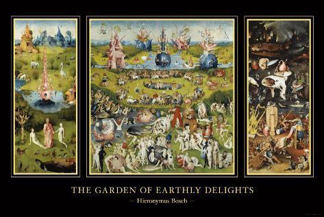 Maallisten ilojen puutarha (The Garden of Earthly Delights), noin 1504 Taidevedos
