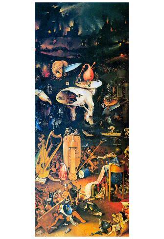 Hieronymus Bosch The Garden Of Earthly Delights Hell Art Print Poster Posters At