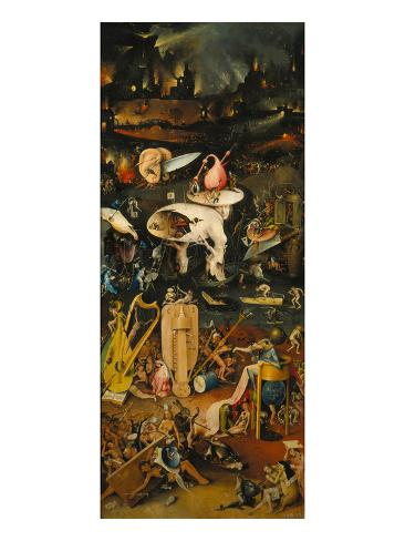 Hieronymus Bosch Garden Of Earthly Delights Right Panel