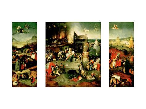 Triptych: the Temptation of St. Anthony Giclee Print