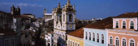 High Angle View of Buildings in a City, Largo Do Pelourinho, Pelourinho, Salvador, Brazil Wall Decal