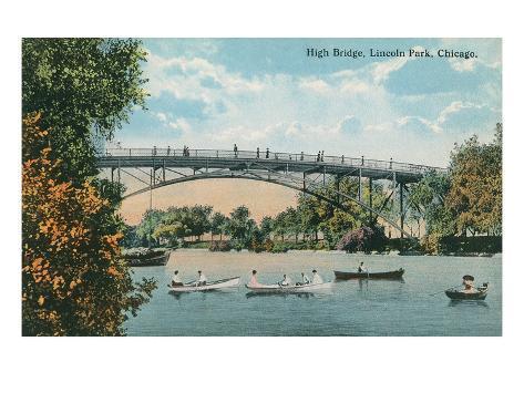 High Bridge, Lincoln Park, Chicago, Illiniois Art Print